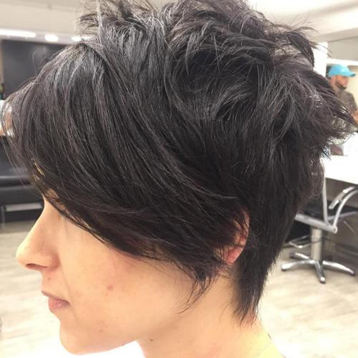 messy short pixie cut