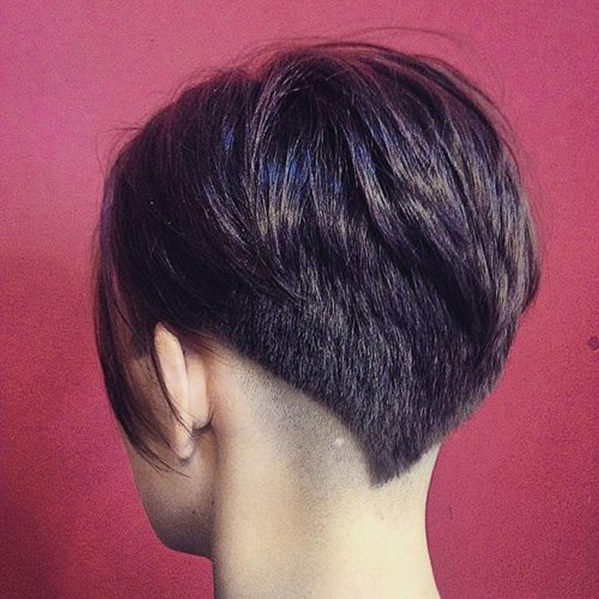 back undercut short hair