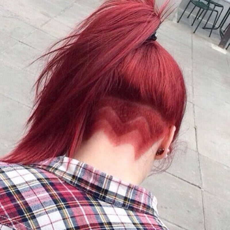 long undercut hair
