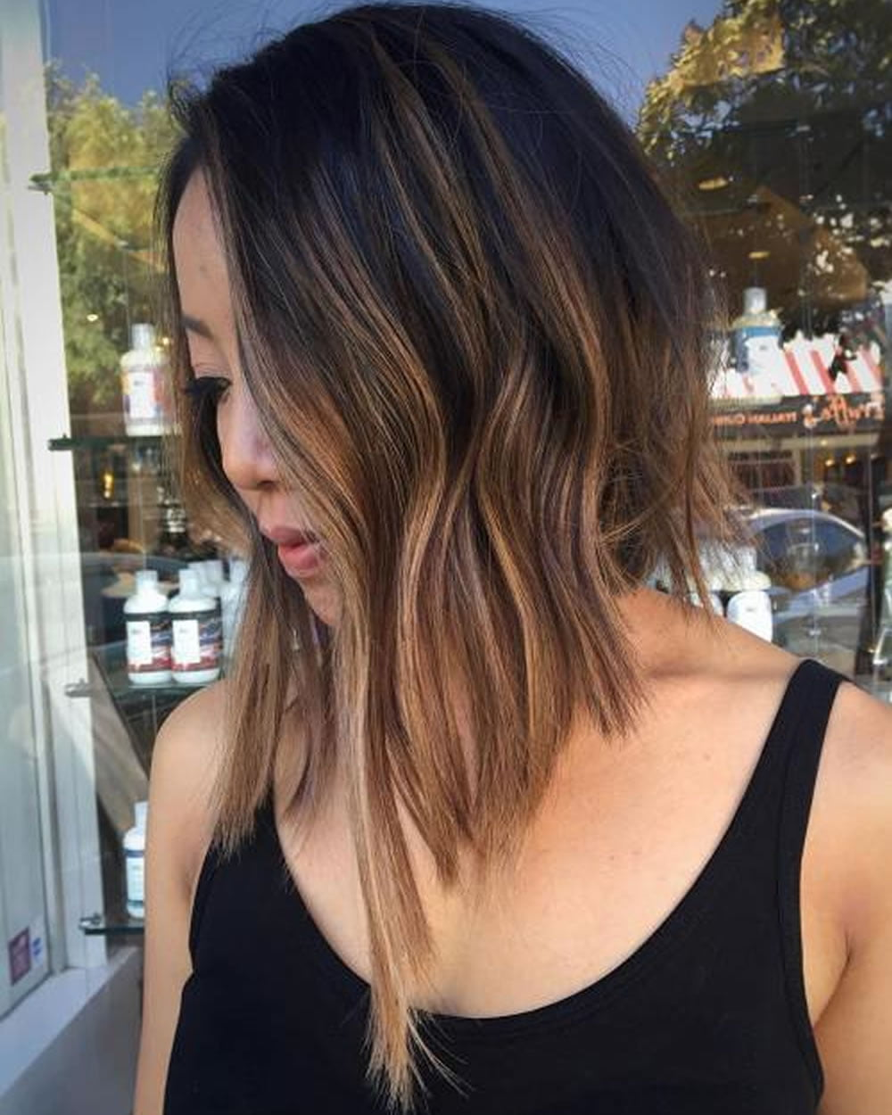Trendy long bob hair