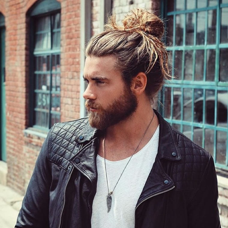 long hair style men