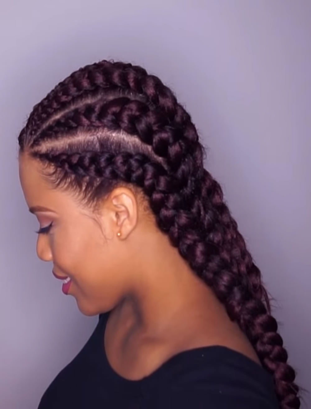 2019 braids Big cornrow braid styles ...