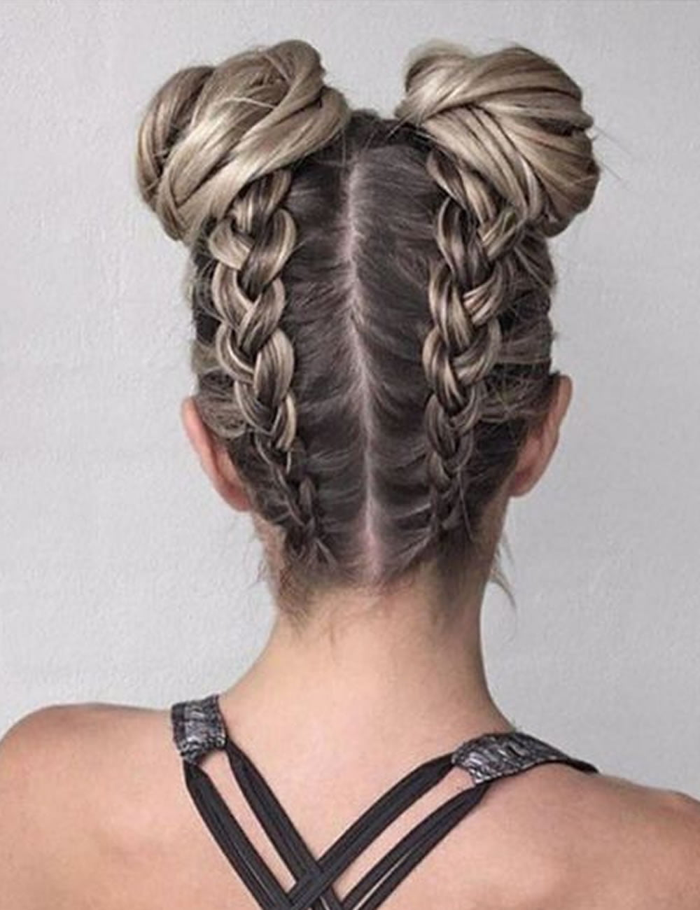double buns back to school hairstyles