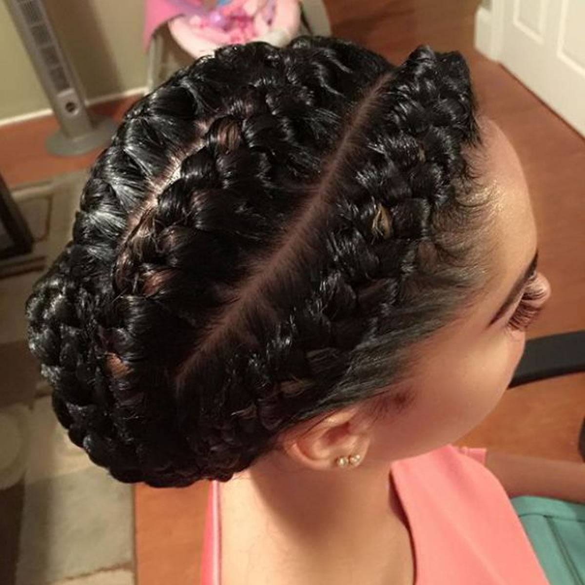2019 ghana weaving Bun cornrow braid hairstyles ...