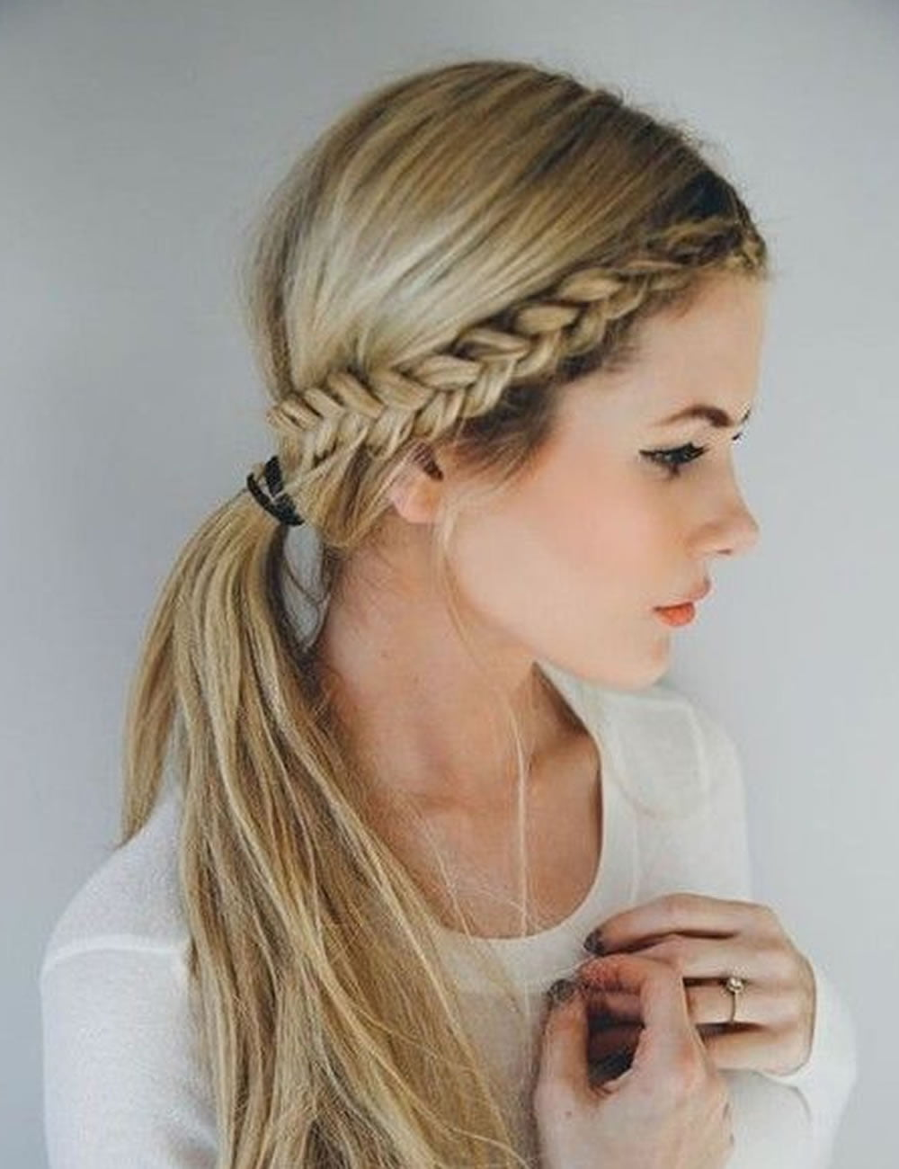 side braids back to school hairstyles