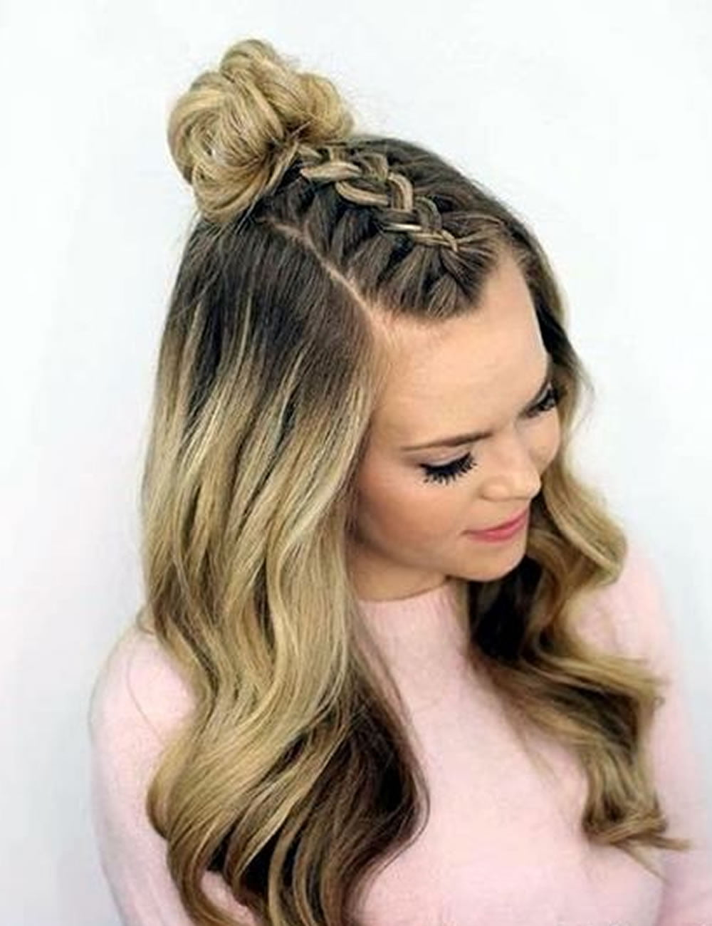 Two tone chic back to school hairstyles