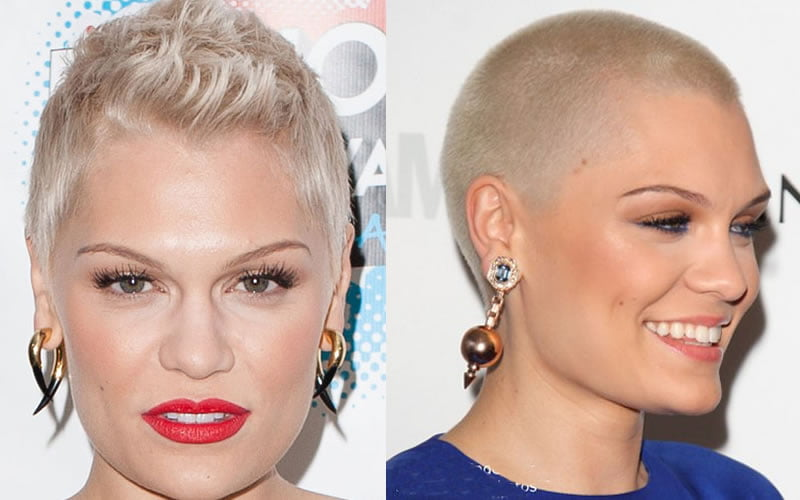 Very short pixie haircut for blonde women