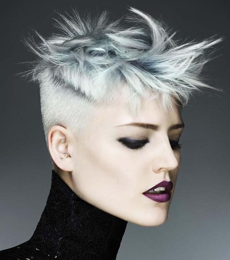 gray short hair