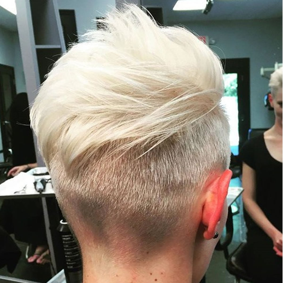 Back undercut hairstyle