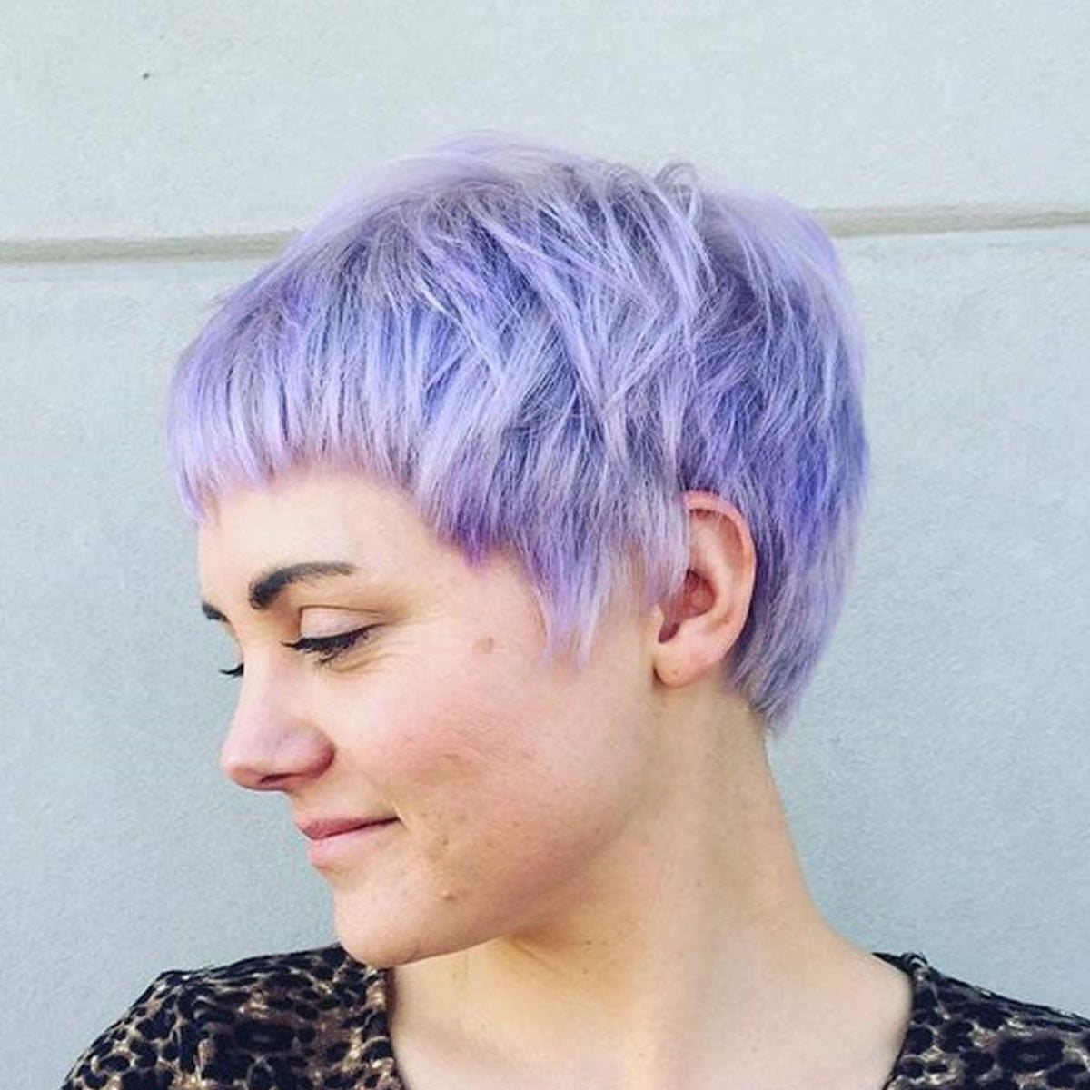 pastel blue-pixie hair style
