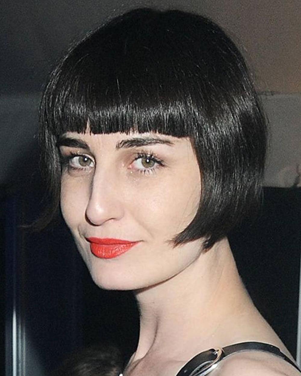 Short haircut with bangs