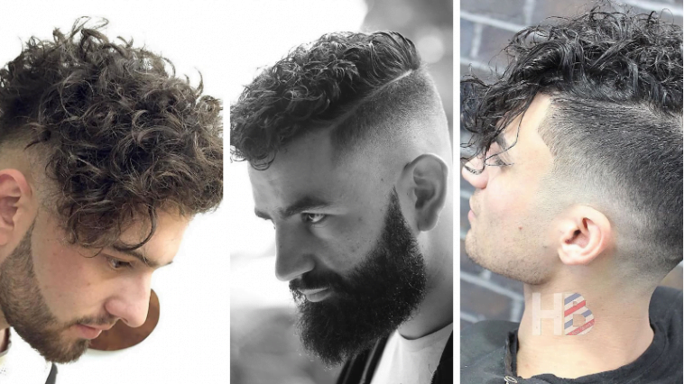 Curly short haircuts for men