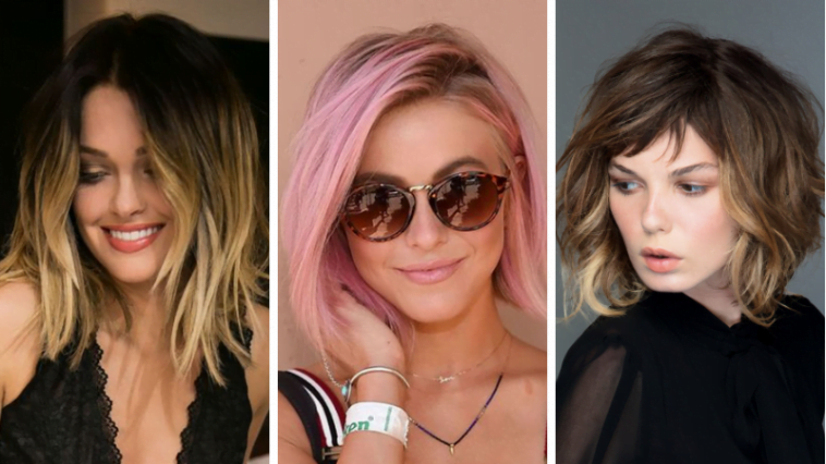 Shoulder length haircuts and hair color ideas