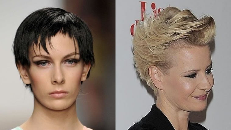 Asymmetrical short pixie hair