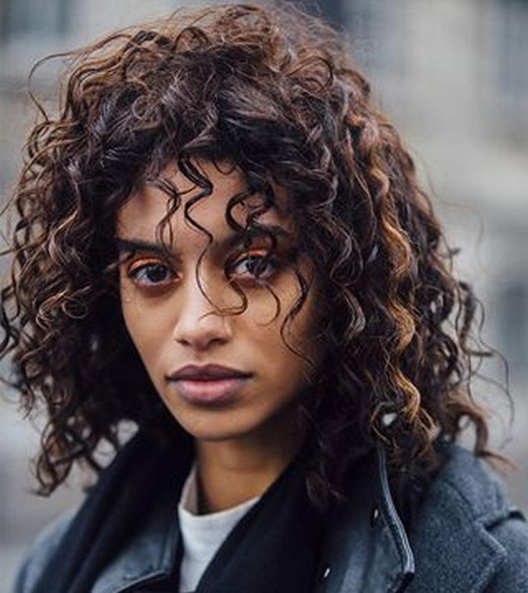 curly medium haircut