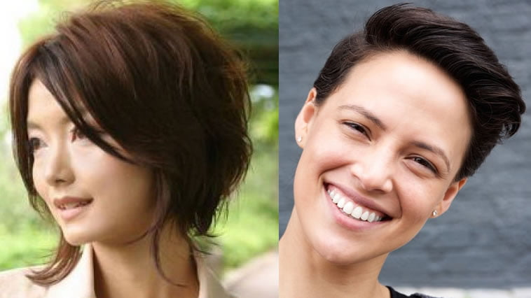 Pixie haircut for round face