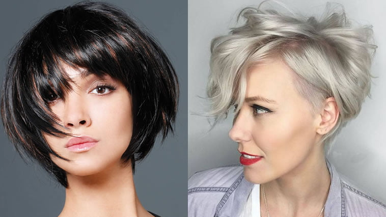 Short Hairstyles 2019 With Bangs: 28 Delectable Short Bob Haircuts & Pixie Hairstyles For