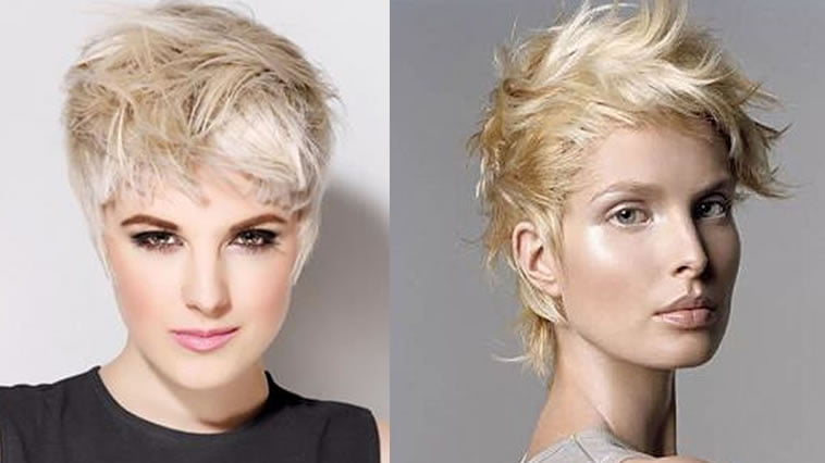 Asymmetrical pixie haircut
