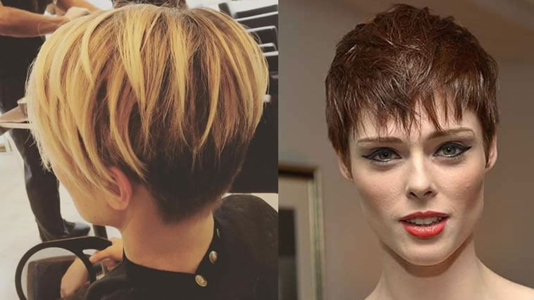 Pixie hairstyle for long face