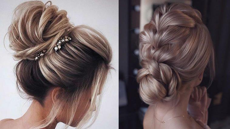 Ballerina bun wedding hairstyles