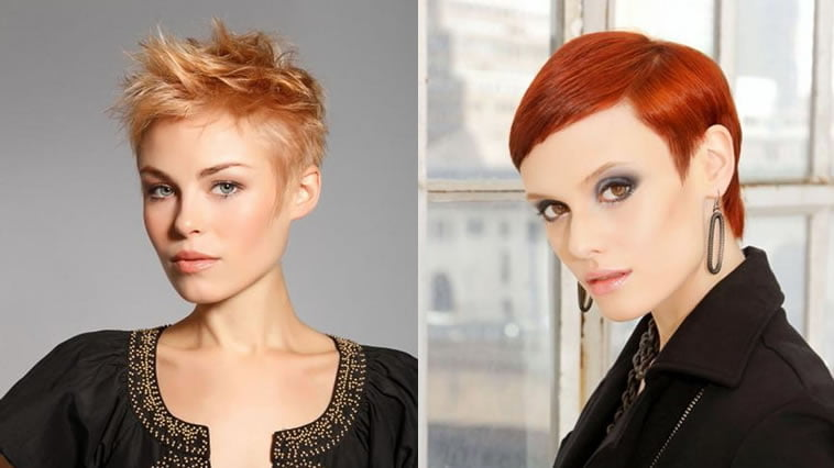 Brown hair color 2019 short pixie hair style
