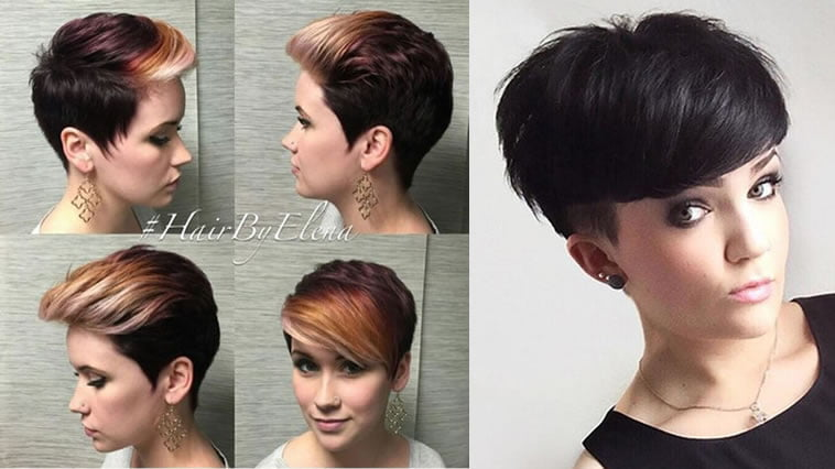 Brown ombre short hairstyle