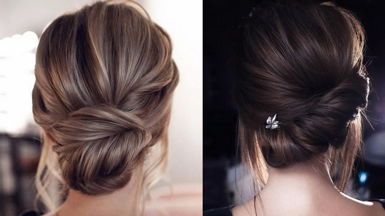Classic updo wedding hairstyles 2019