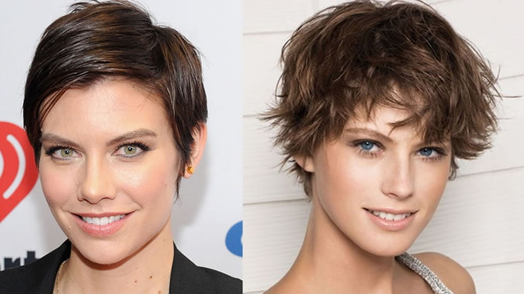 messy short hairstyle for women 2019
