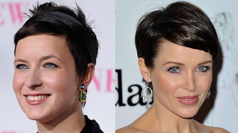 pixie fine hair for round face