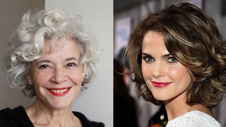 Curly hairstyles for older women over 60