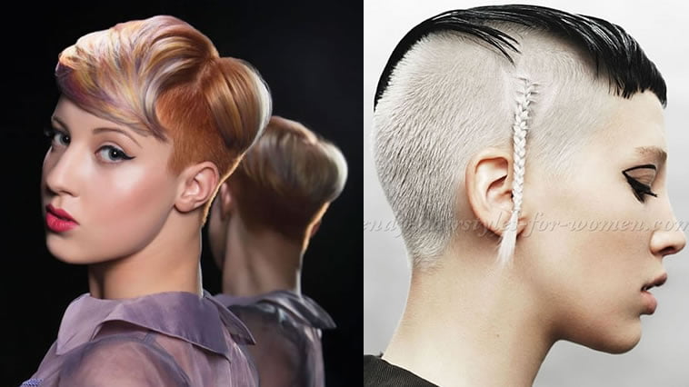Undercut blonde hair style for 2019