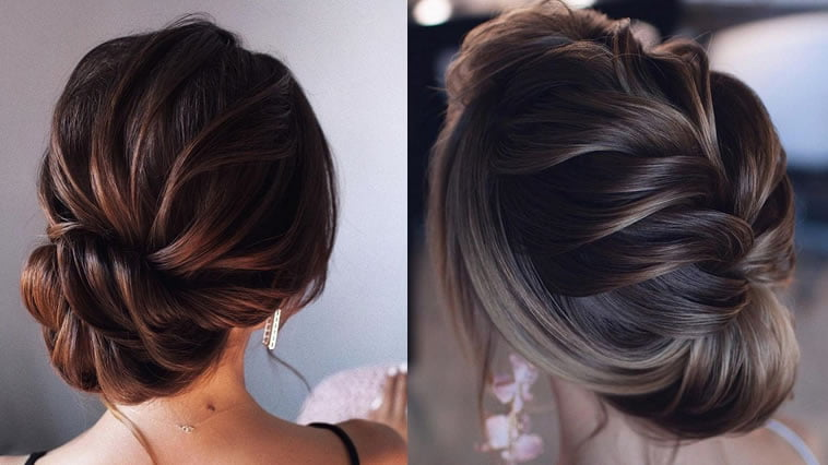 braided updo wedding hairstyle for 2019