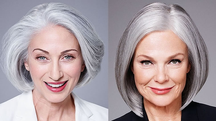 gray hair color 2019 for older women