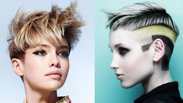 gray ombre pixie hairstyle 2019
