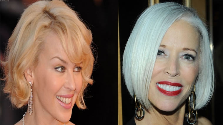Grey hair color for older women over 60