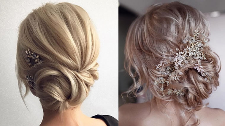 updo wedding hairstyles for medium hair 2019