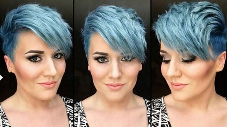 Latest blue hair colors for short hair