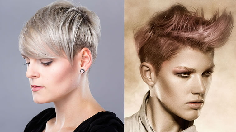 Layered undercut short hairstyles