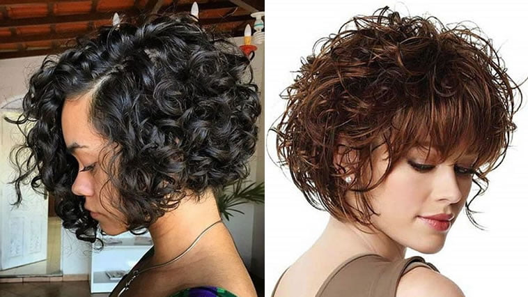 Natural short curly bob 2019