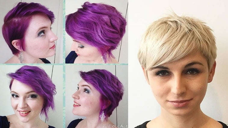 Blonde hairstyle pixie cut