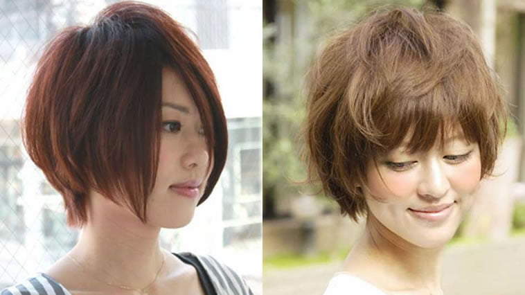 Short bob haircuts for Asian women