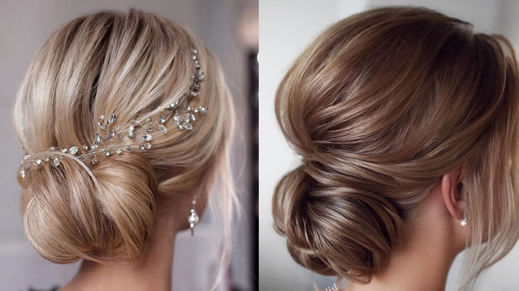 Wedding hairstyle with headpiece 2019