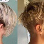 Back undercut short hairstyle