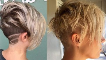 Back undercut short hairstyle