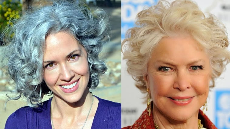 Curly Short Hairstyles For Older Women Over 50 To 60