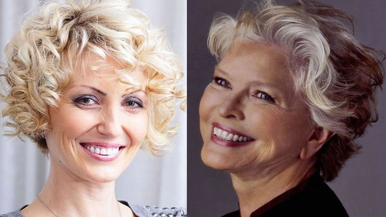 short curly hairstyles for older women over 50