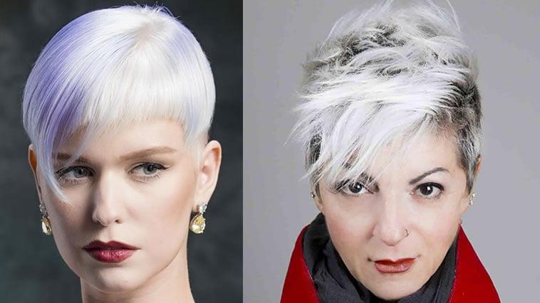 Grey balayage pixie haircut 2019