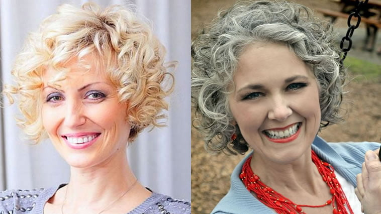 Grey hair color curly hairstyles