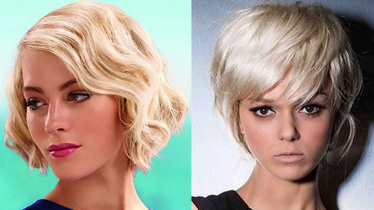 Light blonde hair color short haircut