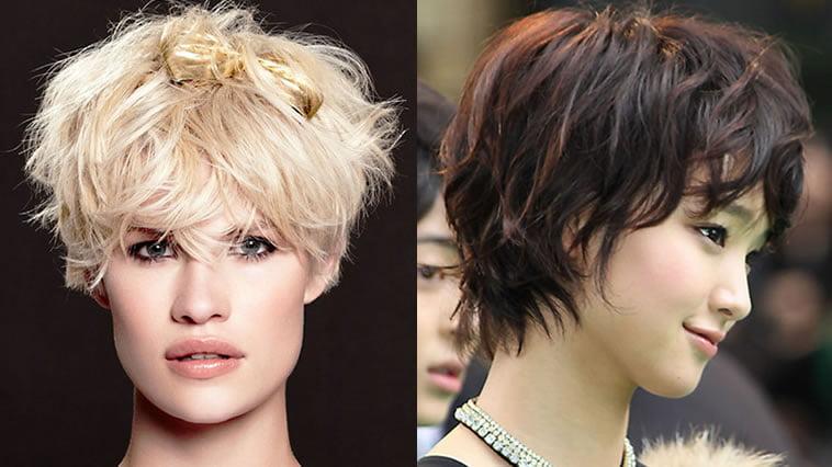 2019 asymmetrical short hairstyle for asian women
